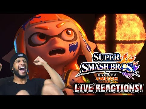 SUPER SMASH BROS 5 FOR NINTENDO SWITCH?! LIVE REACTIONS W/COBANERMANI456