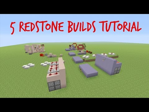 5 Redstone Builds - Minecraft Tutorial