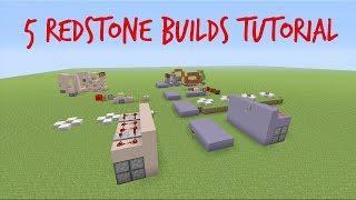 5 Redstone Builds - Minecraft Tutorial