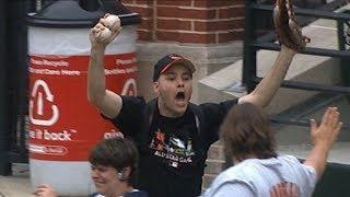Zack Hample Catching Game Home Runs on TV (Part 3/5)