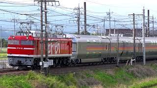 2019.5.11寝台列車カシオペア号回送列車(東北線)【薫風のなか】