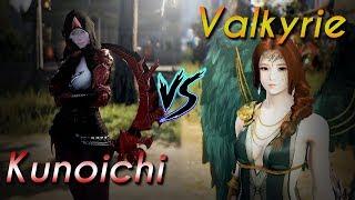 BDO NA 62 Valkyrie 260AP vs. 62 Kunoichi 266AP [Mid Fight Annotations]