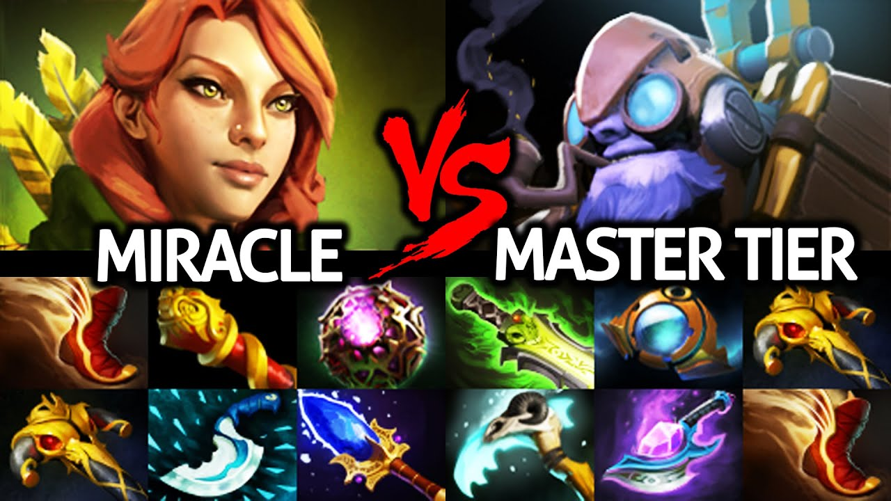 MIRACLE [Windranger] Against Master Tinker Mid Comeback Hard Game Dota 2