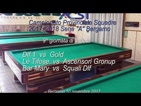 """Campionato Squadre Seie """"A""""  Bergamo 9^ di andata - Live stream di Rosario Velardo"""