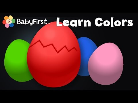 Learn Colors  Surprise Eggs   Surprise Eggs & learning the color Red  with Color Crew