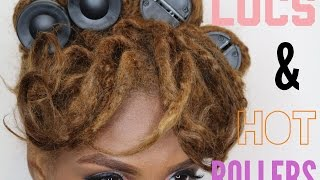 How to use Hot Rollers on Locs