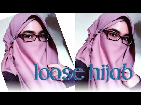 LOOSE HIJAB niqab tutorial
