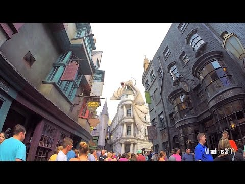 [HD] Tour of Diagon Alley Land at Universal Orlando 2016 -  Harry Potter Land