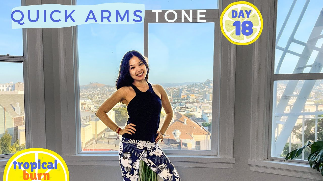 TROPICAL BURN 🔥 QUICK ARMS WORKOUT || Day 18 🍍 30 Days of Pilates Series