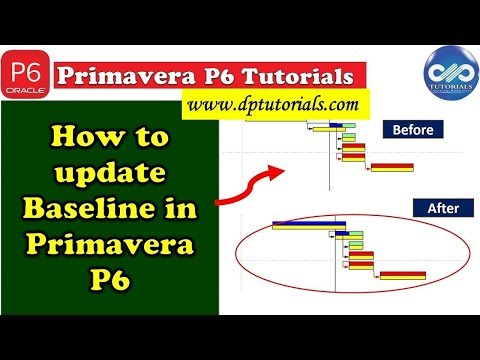 How to update Baseline in Primavera P6 || Primavera Scheduling || dptutorials