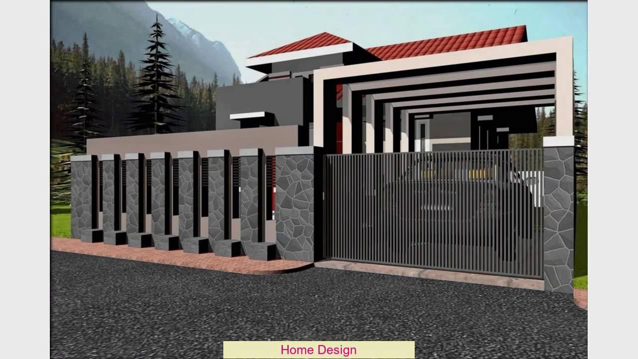 Desain Pagar Rumah Minimalis Dengan Batu Alam  YouTube