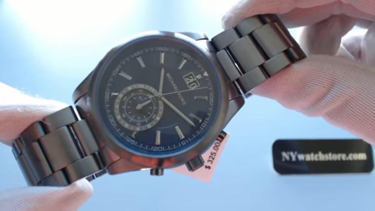 a804c23cb7a0 Men s Gunmetal Michael Kors Aiden Chronograph Watch MK8418 - YouTube