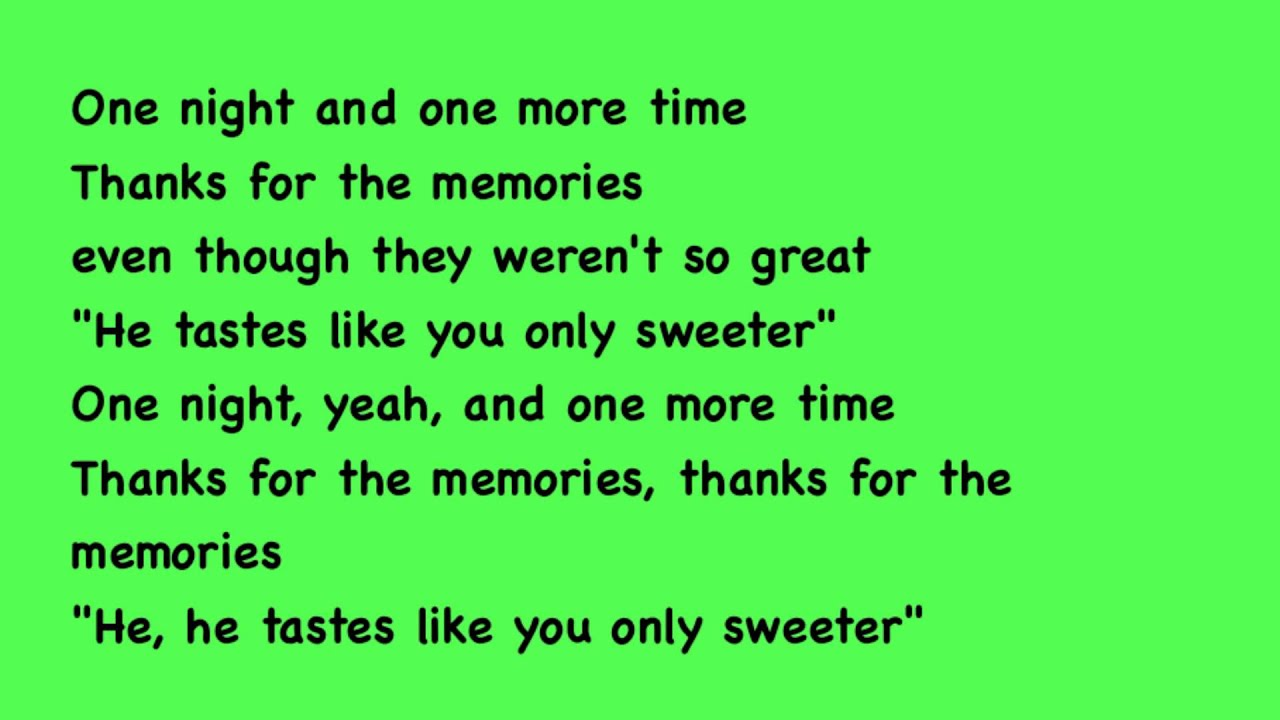 Fall Out Boy - Thanks For The Memories lyrics with song ...