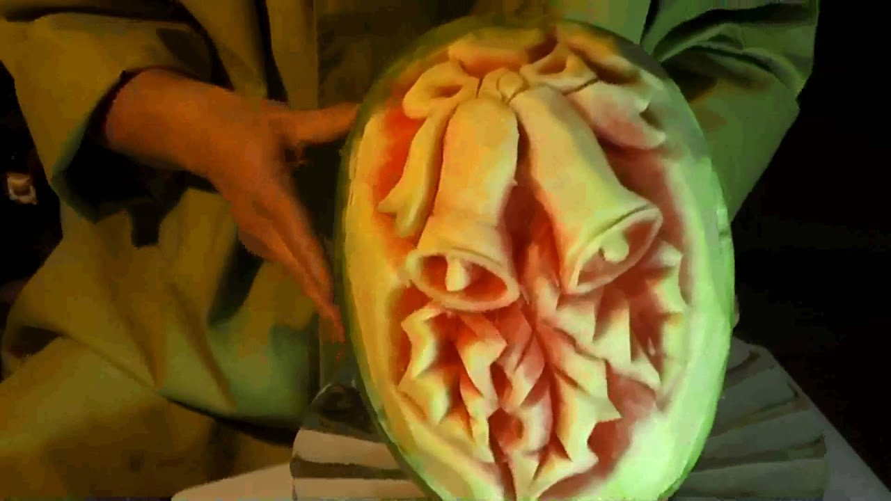 Christmas watermelon fruit carving mp youtube