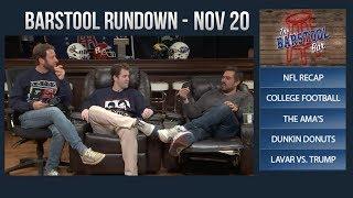Barstool Rundown - November 20, 2017