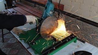 як зробити відрізний верстат по дереву з болгарки своїми руками