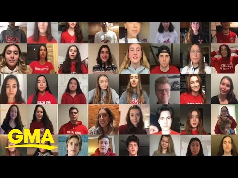 'We will get through this together' high school seniors share this positive message l GMA Digital