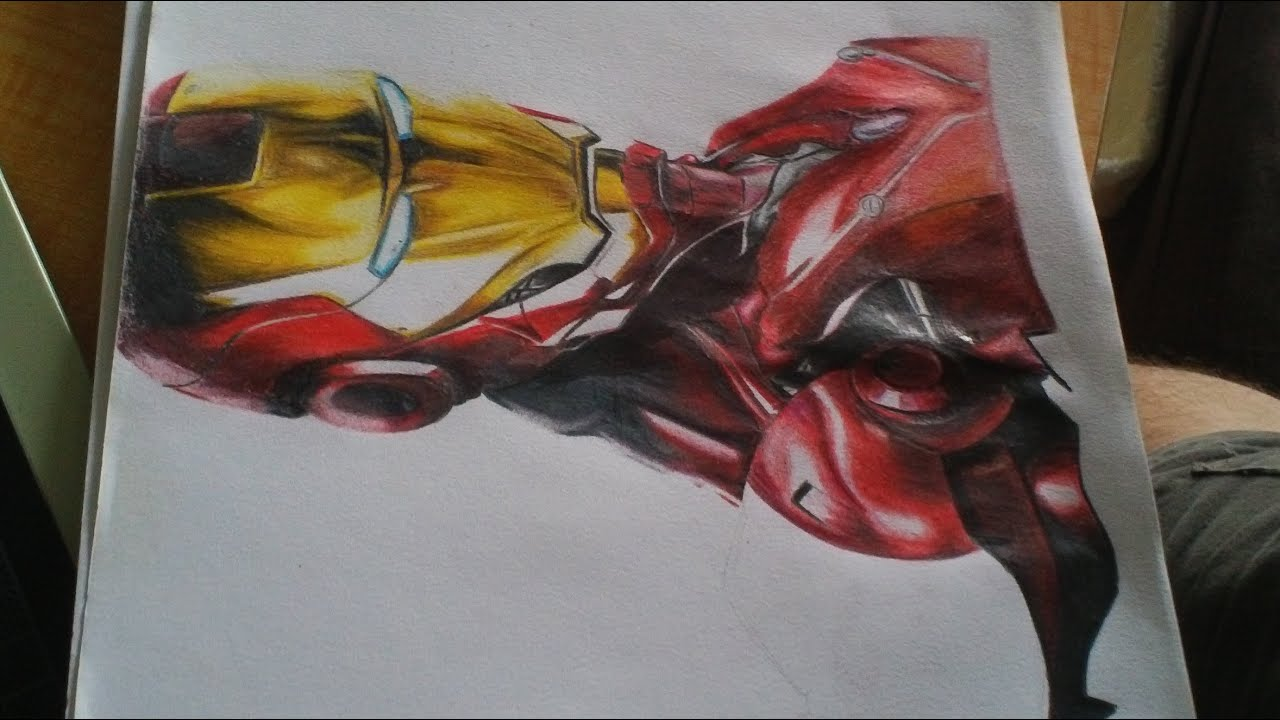 drawing iron man colored pencil youtube - Iron Man Pictures To Colour