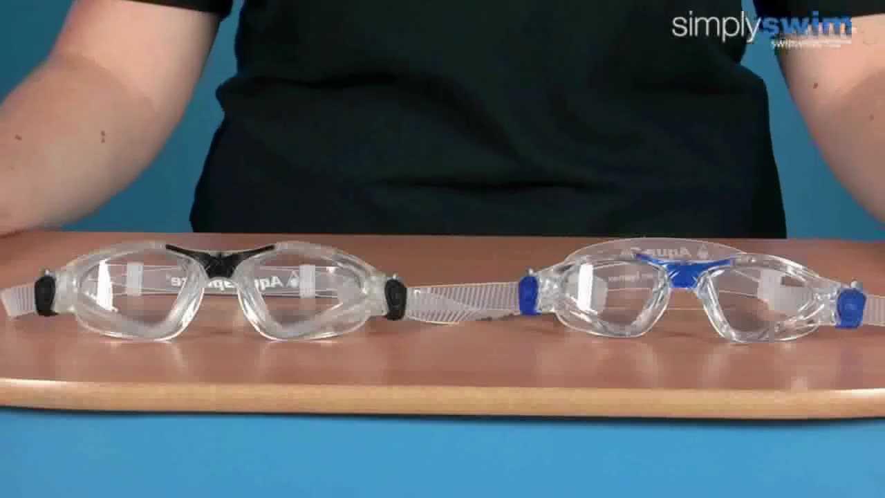 84c66297d40 Aqua Sphere Kayenne Clear Lens Goggle - www.simplyswim.com - YouTube
