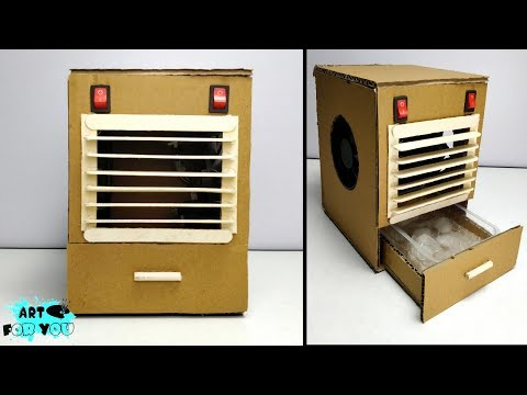 How To Make Powerful Mini Air Cooler From Cardboard | How To Make Mini AC at home