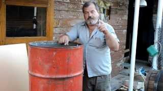 Бочка для запаривания субстрата и чурок, вешенка(Это обычная 200 литровая бочка, в неё врезан мощный тэн и кран для слива воды после запаривания. в бочку надо..., 2013-08-04T16:25:18.000Z)