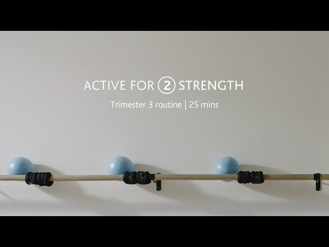 Active for 2: Pregnancy strength training workout for trimester 3