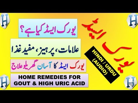 Uric Acid / Gout / Arthritis / Gathiya Symptoms & Treatment At Home And Foods To Avoid In Hindi Urdu