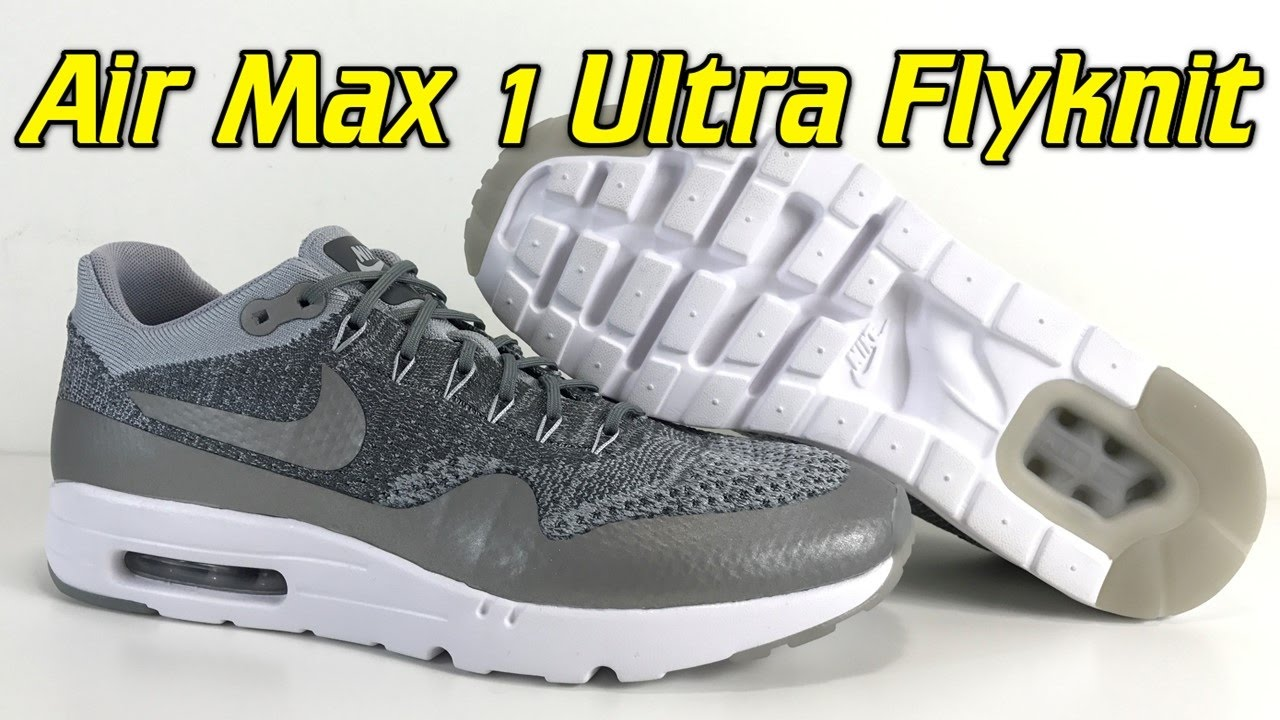 b3d0678a85f10 Nike Air Max 1 Ultra Flyknit (Wolf Grey) - Review + On Feet - YouTube