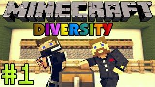 Minecraft Diversity #1 - Евгеха и Мистик