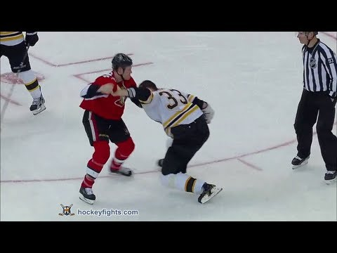 Zdeno Chara vs Chris Neil Feb 25, 2012