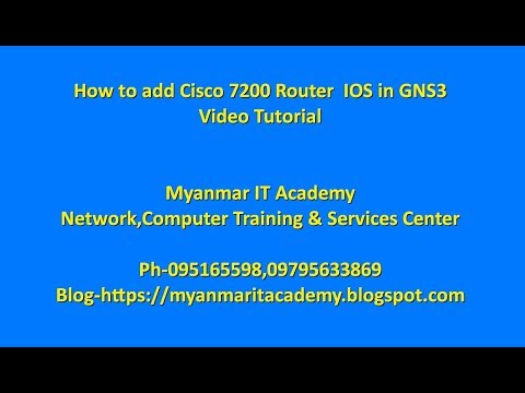 How to add Cisco 7200 Router IOS in GNS3