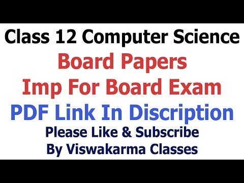 Class 12    Computer Science कम्प्यूटर विज्ञान    Board Papers    Model, Guess paper RBSE CBSE NCERT