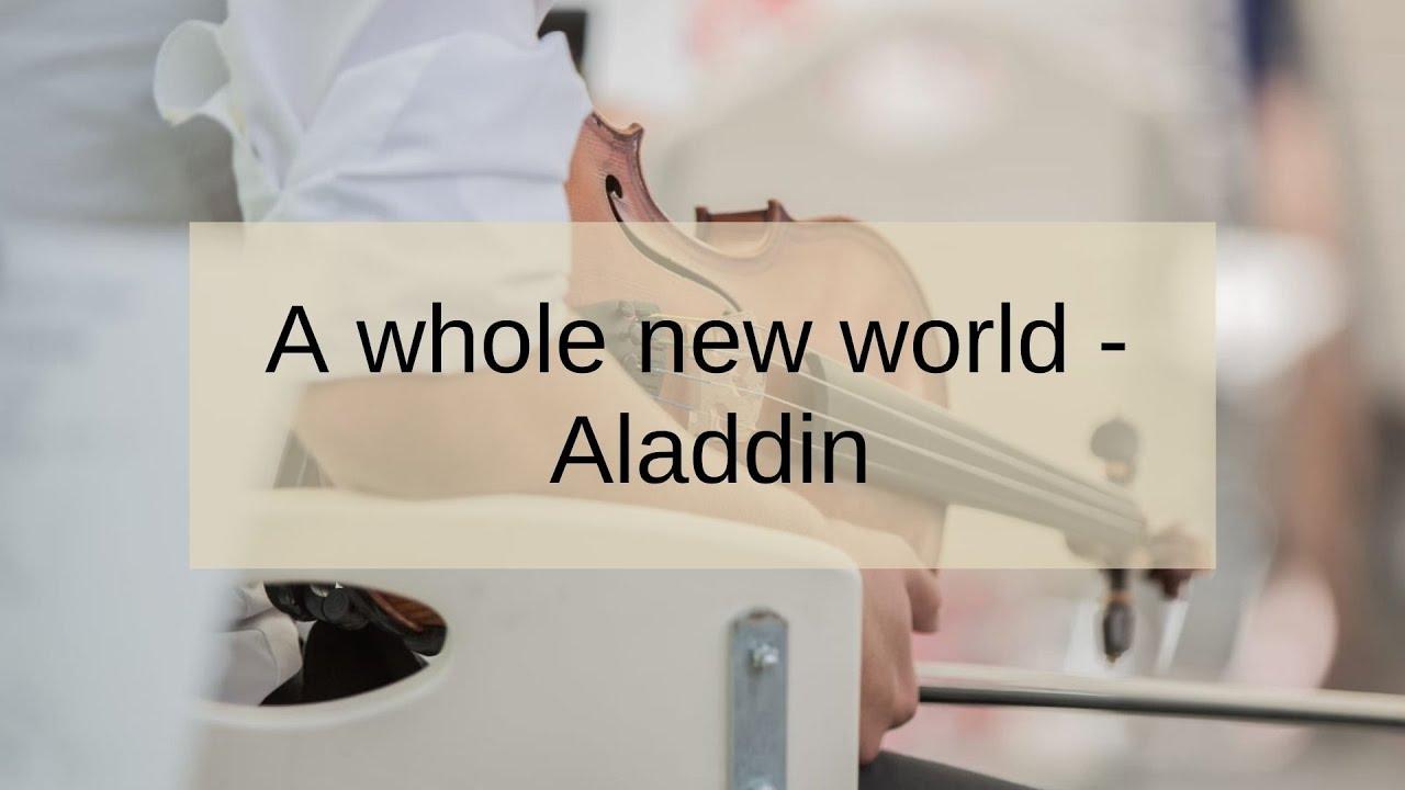 A whole new world   Aladdin   Duo