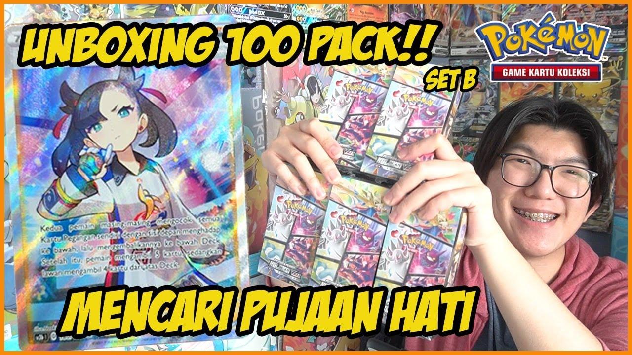 MIMPI ITU NYATA! Unboxing 100 Pack Koleksi VMAX Berkilau Set B - Kartu Pokemon Indonesia