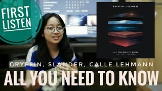 reaction all you need to know (Gryffin, Slander, Calle Lehmann) audio