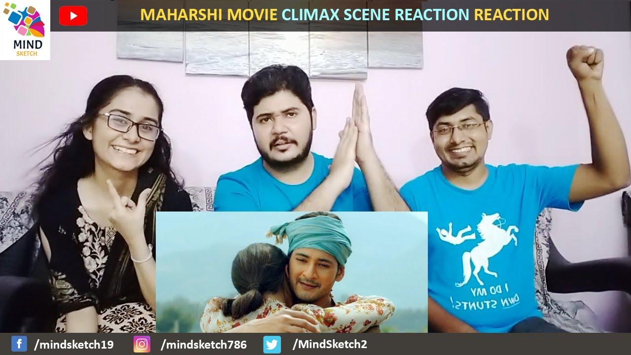 Maharshi Movie Climax Scene Reaction   Tunring Point Scene   Mahesh Emotional Scene   Mahesh   Pooja
