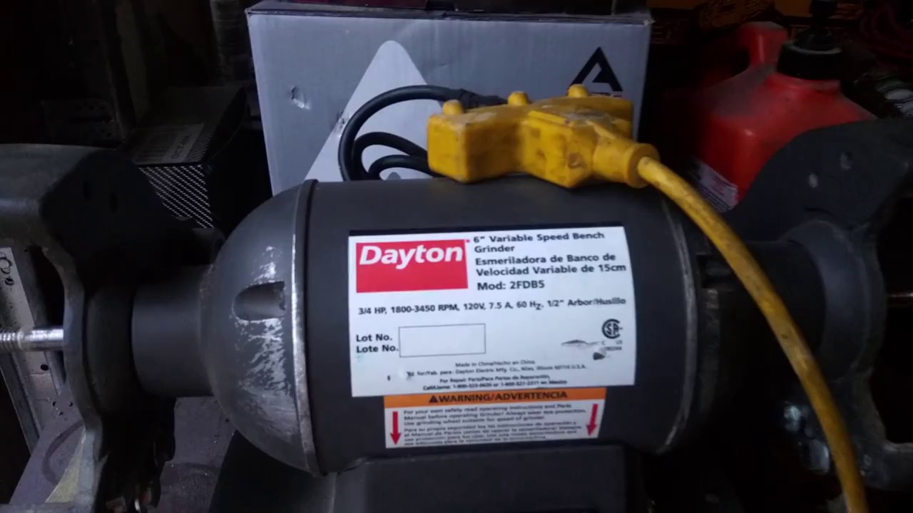 dayton 2fdb5 variable speed 6 bench grinder [ 1280 x 720 Pixel ]