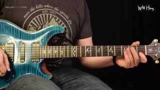Ramble On - Led Zeppelin guitar tutorial part 3 - Distorted/lead track