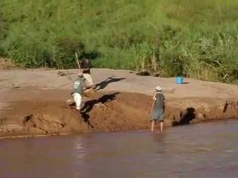 Car crossing river near town of Belobaka, Madagascar (4)