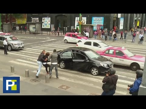 Simulacro de secuestro en México deja sorprendidos a ciudadanos en la calle