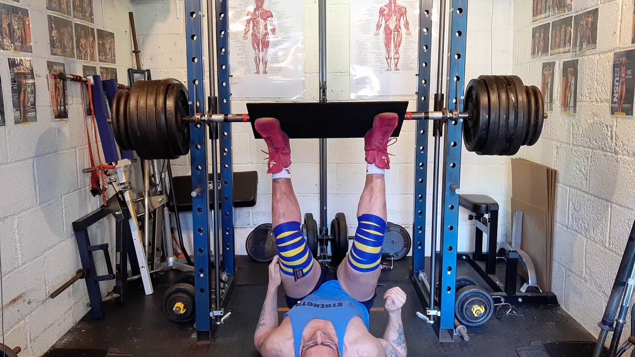 280kg vertical leg press on my home made Smith's machine ...