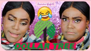 Full Face DOLLAR TREE Makeup | Dollar Store Makeup Challenge!