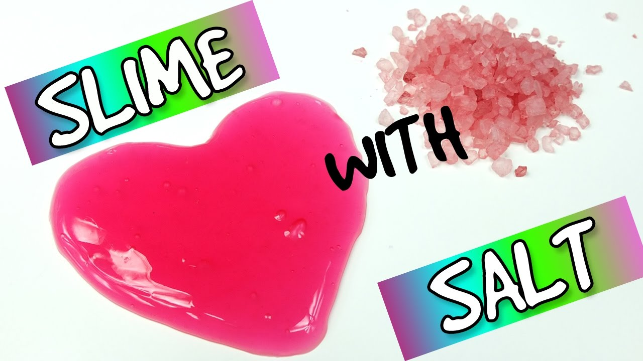 How to make slime solution with salt and water