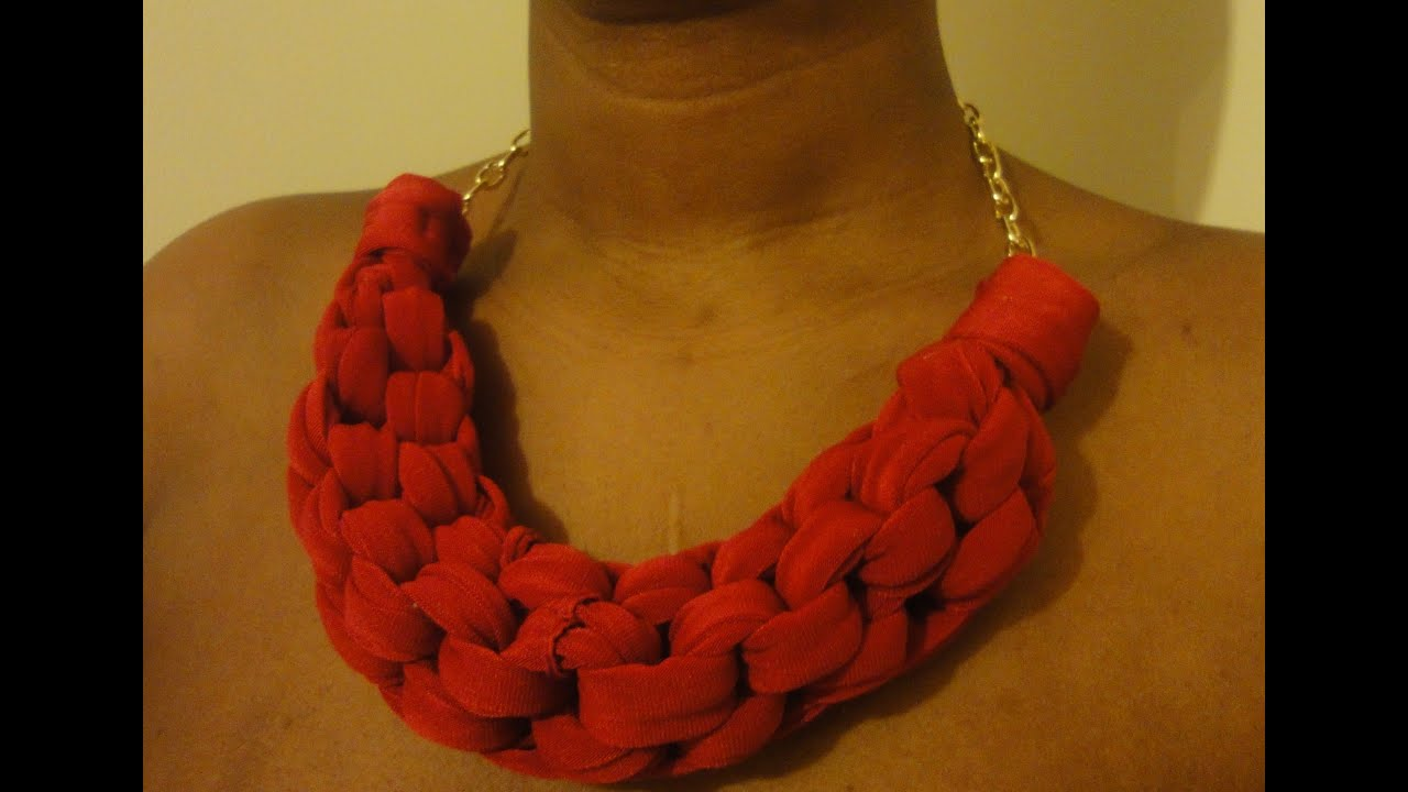 Diy Straight Knot Necklace Fabric Knot Necklace Youtube