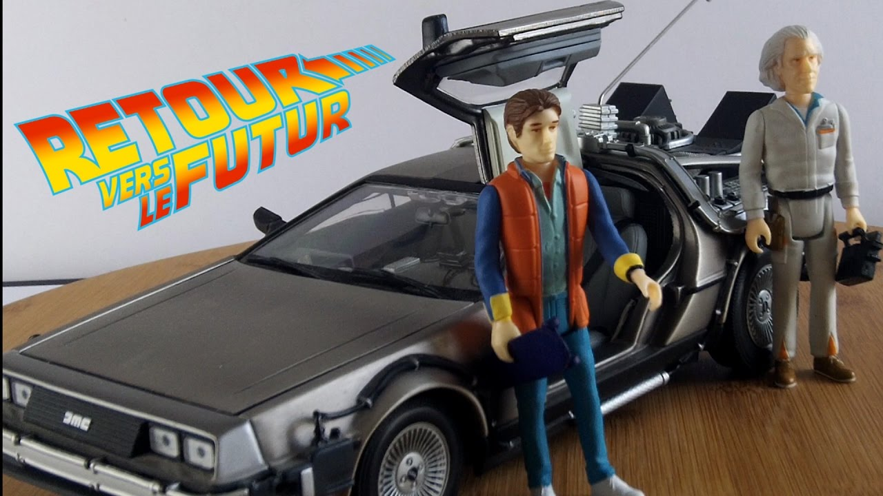fr retour vers le futur delorean figurines marty et doc youtube. Black Bedroom Furniture Sets. Home Design Ideas