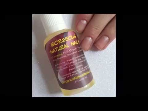How to use Gorgeous Natural Nails nail growth formula - YouTube