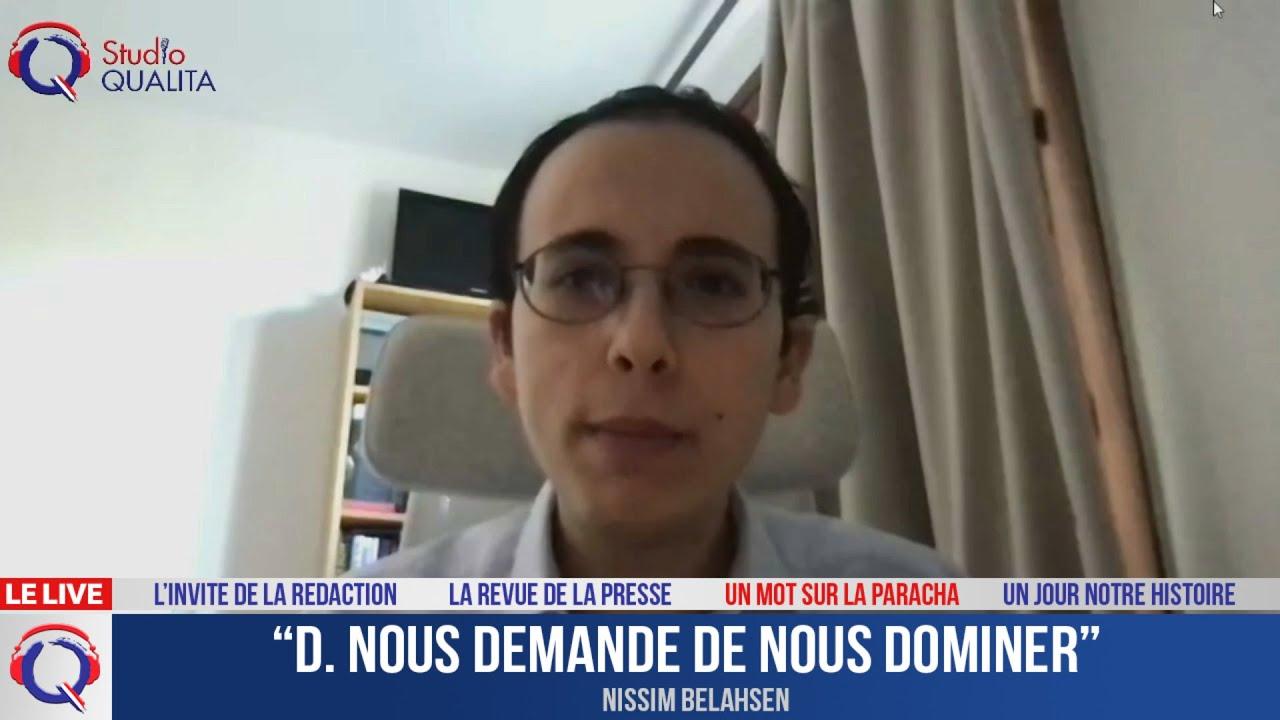 """""""D. nous demande de nous dominer"""" - Le mot de la Paracha du 11 juin 2021"""