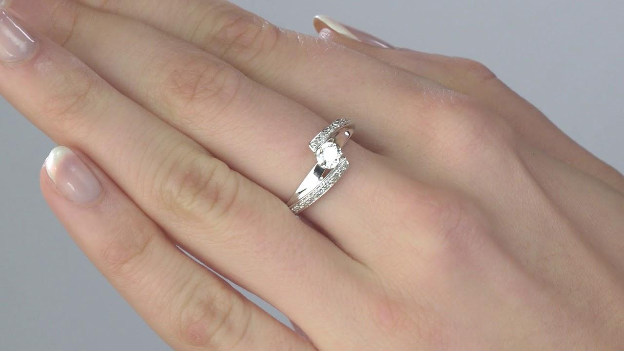 182bf6782e6 Edenly - Bague de Fiançailles Destinée - Aliénor - or blanc - diamant 0.37  carat
