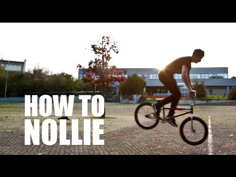 How to Nollie on BMX (Как сделать нолли на БМХ, MTB) | Школа BMX Online #12