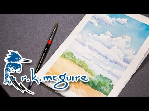 How to Watercolor Paint Clouds | R K McGuire